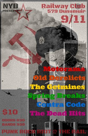 Punk Rock Riot @ The Rail IV: Old Derelicts, Motorama, The Getmines, Spring Breaks, Contra Code, The Dead Hits @ Railway Club Sep 11 2015 - May 28th @ Railway Club