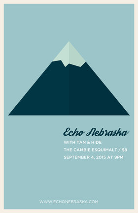 Echo Nebraska, Tan and Hide @ The Cambie at the  Esquimalt Inn Sep 4 2015 - Mar 31st @ The Cambie at the  Esquimalt Inn