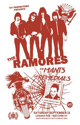 The Ramores, The Mants, The Remedials @ Logan's Pub Sep 12 2015 - Mar 31st @ Logan's Pub