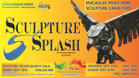 Sculpture Splash: Melanie Furtado, Kent Laforme, Christa Rossner, Scott Gillies  @ Macaulay Point Park, 1101 Munro St., Sep 18 2015 - Jan 21st @ Macaulay Point Park, 1101 Munro St.,