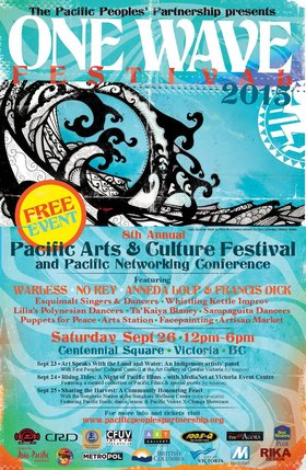 One Wave Festival Public Evening Event: Thursday September 24, 2015 - Rising Tides: A Night of Pacific Films: Steven Davies  (filmmaker), Steven Davies  (filmmaker) @ Victoria Event Centre Sep 24 2015 - Sep 21st @ Victoria Event Centre