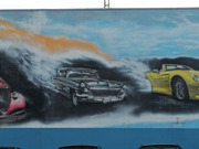 Derrick\'s Automotive Car Mural by Unknown
