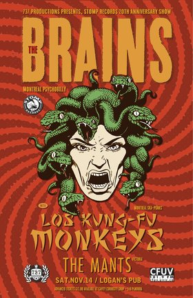 Stomp Records 20th Anniversary: The Brains, Los Kung Fu Monkeys , The Mants @ Logan's Pub Nov 14 2015 - Mar 31st @ Logan's Pub