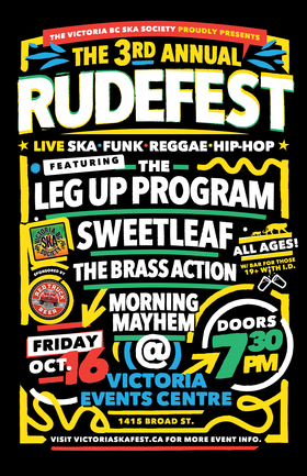 RUDEFEST 2015!: The Leg-Up Program, Sweet Leaf, The Brass Action, More Than Mayhem @ Victoria Event Centre Oct 16 2015 - Jun 2nd @ Victoria Event Centre