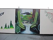 Rock Bay Mural Project by  Butch Dick (designer), Darlene Gait  (designer)