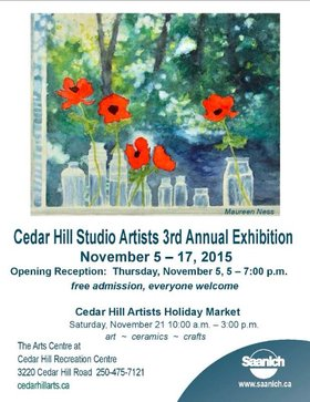 Cedar Hill Studio Artists 3rd. Annual Exhibition @ The Arts Centre at Cedar Hill  Nov 5 2015 - Jul 14th @ The Arts Centre at Cedar Hill