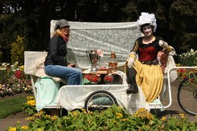 Christine White : Tea Party on a bike trailer - Oct 26th @ PedalBox Gallery