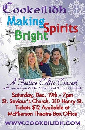 Making Spirits Bright!: Cookeilidh @ St. Saviour's Historic Church. 310 Henry St., Victoria BC Dec 19 2015 - Sep 24th @ St. Saviour's Historic Church. 310 Henry St., Victoria BC
