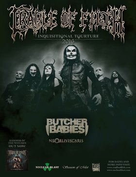 Cradle Of Filth, Butcher Babies, Ne Obliviscaris @ Live at Rickshaw  Feb 24 2016 - Sep 23rd @ Live at Rickshaw