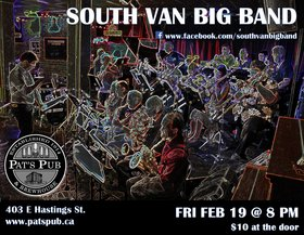 South Van Big Band @ Pat's Pub Feb 19 2016 - Nov 17th @ Pat's Pub