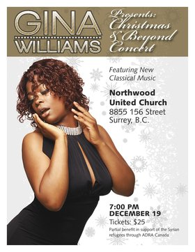Christmas & Beyond: Gina Williams @ Northwood United Church Dec 19 2015 - Feb 17th @ Northwood United Church