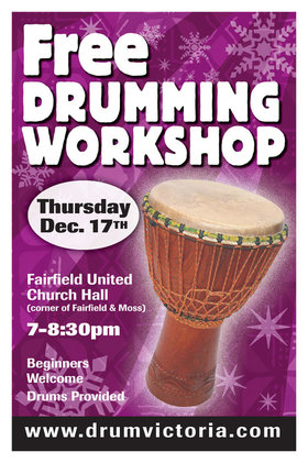 FREE DRUMMING WORKSHOP: Jordan Hanson @ Fairfield Hall Dec 17 2015 - May 13th @ Fairfield Hall