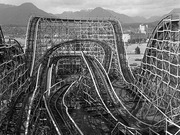 Wooden Roller Coaster, Vancouver, 1986 by  Raymond Parker (Photographer)