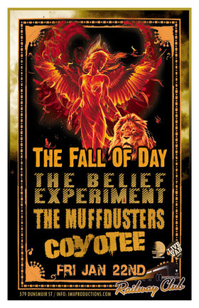 The Fall of Day, The Belief Experiment, COYOTEE The Band, Muffdusters @ Railway Club Jan 22 2016 - Feb 24th @ Railway Club