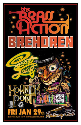 The Brass Action, Brehdren, Sweet Leaf, Kownterpoint @ Railway Club Jan 29 2016 - Feb 24th @ Railway Club