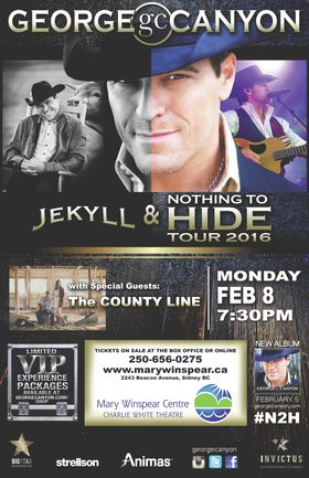 Jekyll and Nothing to Hide Tour: George Canyon, The County Line @ The Mary Winspear Centre Feb 8 2016 - Mar 18th @ The Mary Winspear Centre