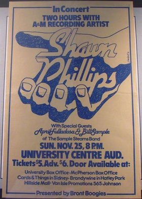 Shawn Phillips: April Gislason, Bill Sample @ The Farquhar at UVic Nov 25 1979 - Nov 29th @ The Farquhar at UVic