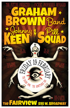 Triple-team action at the Fairview!!: The Graham Brown Band,  Johnny Keen, Pill Squad @ Fairview Pub Feb 19 2016 - May 31st @ Fairview Pub