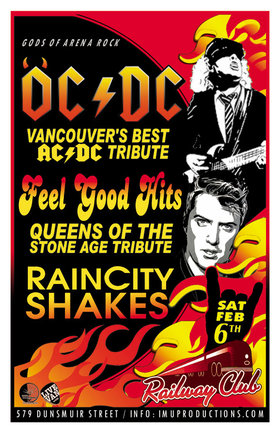 OC/DC  (Vancouver's best AC/DC Tribute), Feel Good Hits, RAINCITY SHAKES @ Railway Club Feb 6 2016 - Feb 24th @ Railway Club