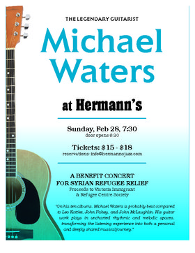 Michael Waters @ Hermann's Jazz Club Feb 28 2016 - Apr 4th @ Hermann's Jazz Club