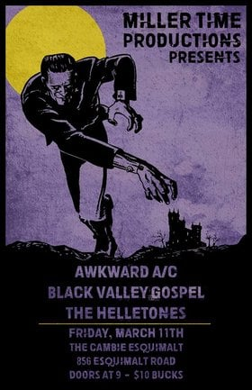 Awkward A/C, Black Valley Gospel, The Helletones @ The Cambie at the  Esquimalt Inn Mar 11 2016 - Oct 24th @ The Cambie at the  Esquimalt Inn