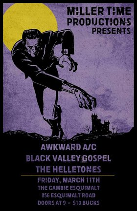 Awkward A/C, Black Valley Gospel, The Helletones @ The Cambie at the  Esquimalt Inn Mar 11 2016 - Mar 31st @ The Cambie at the  Esquimalt Inn