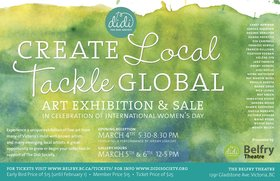 Create Local: Tackle Global Art Exhibition and Sale: Carole Sabiston, Rick Leong, Phyllis Serota, Rande Cook , Judi Dyelle, Sandra Meigs, Sheila Norgate, Eva Campbell, Samantha Dickie, Shawn Shepherd , Helene Cyr, Victoria Edgarr, Roy Green, Carey Newman, Jeremy Herndl, Meira Mathison, Duane Prentice, Desiree deRuiter, Francis Sullivan, Wendy Skog, Heather Keenan , Waine Ryzak, Frances Semple, Jane Francis @ Belfry Theatre Mar 5 2016 - Apr 19th @ Belfry Theatre