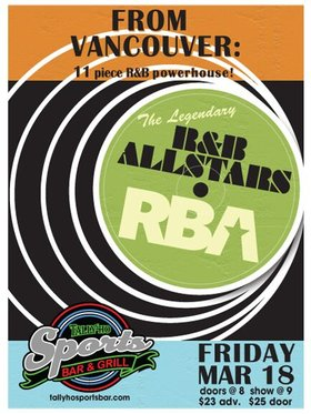 R&B All Stars @ Tally Ho Sports Bar and Grill Mar 18 2016 - Apr 10th @ Tally Ho Sports Bar and Grill