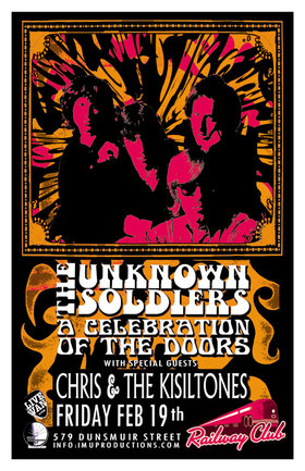 The Unknown Soldiers, Chris & The Kisiltones, The 3 a.m. @ Railway Club Feb 19 2016 - Feb 24th @ Railway Club