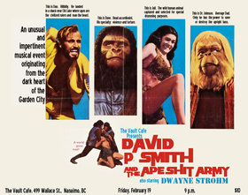 David P. Smith & The Ape Shit Army, Dwayne Strohm @ The Vault Coffee Shop Feb 19 2016 - Mar 29th @ The Vault Coffee Shop