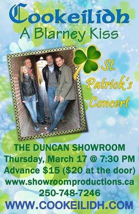 """A Blarney Kiss"" St. Patrick's Concert: Cookeilidh @ Duncan Showrrom Mar 17 2016 - Sep 24th @ Duncan Showrrom"