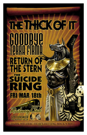 The Thick of It, Goodbye Terra Firma, The Suicide Ring, Return of the Stern @ Railway Club Mar 18 2016 - Feb 24th @ Railway Club