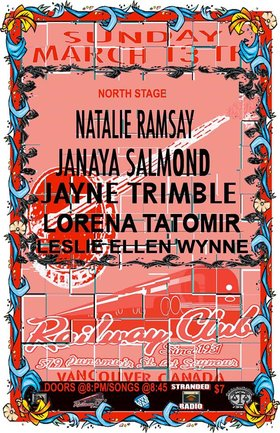 Stranded Sunday Sessions #17: Natalie Ramsay, Leslie Ellen Wynne, Jayne Trimble, Janaya Salmond,  Lorena Tatomir @ Railway Club Mar 13 2016 - Feb 24th @ Railway Club