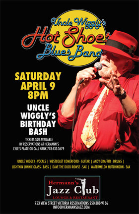 Uncle Wigglys Hot Shoes Blues Band @ Hermann's Jazz Club Apr 9 2016 - Jan 22nd @ Hermann's Jazz Club