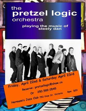 Pretzel Logic Orchestra @ Hermann's Jazz Club Apr 23 2016 - Sep 17th @ Hermann's Jazz Club