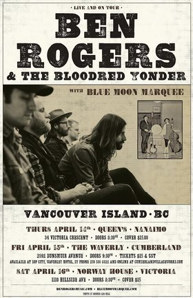 Ben Rogers and the Bloodred Yonder, Blue Moon Marquee @ Vinyl Envy Apr 16 2016 - Feb 21st @ Vinyl Envy