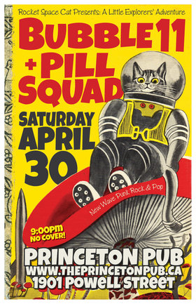 double-bill: Bubble11, Pill Squad @ Princeton Pub Apr 30 2016 - May 31st @ Princeton Pub