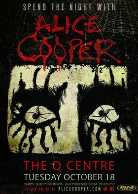 Alice Cooper @ The Q Centre Oct 18 2016 - Oct 17th @ The Q Centre