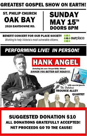 OUR PLACE BENEFIT / GOSPEL CONCERT: HANK ANGEL and his ISLAND DEVILS, The TROUNCE ALLEY QUARTET @ St. Philip Church May 15 2016 - Apr 1st @ St. Philip Church