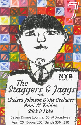Staggers & Jaggs, Chelsea Johnson & The Beehives, Anni M Fables, Stick & Poke @ Seven Dining Lounge Apr 29 2016 - Nov 26th @ Seven Dining Lounge