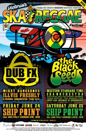 The Black Seeds, Western Standard Time Ska Orchestra, Sweet Leaf, LOVECoast, DJ Dubconscious @ Ship Point (Inner Harbour) Jun 25 2016 - Jul 23rd @ Ship Point (Inner Harbour)