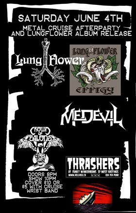 Lungflower, Medevil, Crown of Talons @ Funky Winker Beans Jun 4 2016 - Dec 8th @ Funky Winker Beans