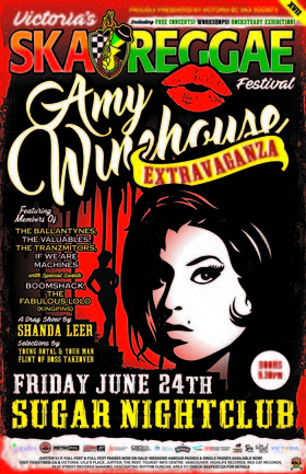 AMY WINEHOUSE EXTRAVAGANZA (A special tribute to Amy featuring members of: The Ballantynes, The Valuables, Boomshack, The Fabulous Lo Lo @ Capital Ballroom Jun 24 2016 - Sep 26th @ Capital Ballroom