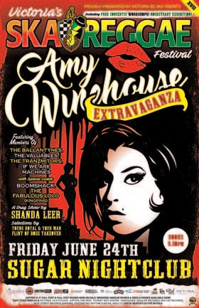 AMY WINEHOUSE EXTRAVAGANZA (A special tribute to Amy featuring members of: The Ballantynes, The Valuables, Boomshack, The Fabulous Lo Lo @ Capital Ballroom Jun 24 2016 - Apr 7th @ Capital Ballroom