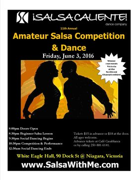 Amateur Salsa Competition & All Ages Dance @ White Eagle Polish Hall Jun 3 2016 - May 27th @ White Eagle Polish Hall