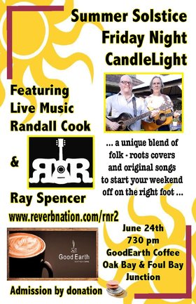 Friday Night Candlelight: R&R @ Good Earth Coffeehouse Jun 24 2016 - Nov 23rd @ Good Earth Coffeehouse
