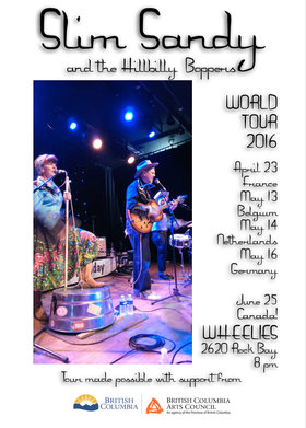 Slim Sandy and the Hillbilly Boppers @ Wheelies Motorcyles Jun 25 2016 - Dec 8th @ Wheelies Motorcyles