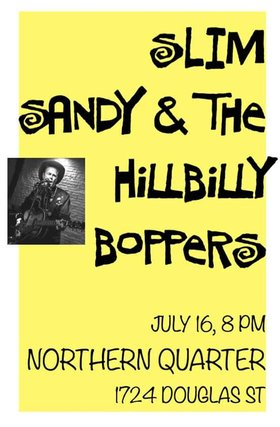 Slim Sandy and the Hillbilly Boppers @ Northern Quarter Jul 16 2016 - Dec 8th @ Northern Quarter