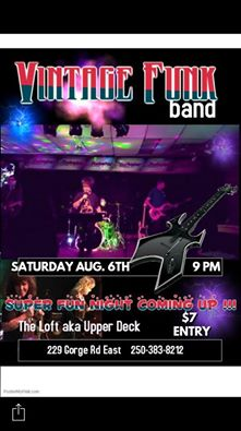 the Vintage Funk band, The Hearts and Roses Band @ Upper Deck (in the Gorge Travelodge) Aug 6 2016 - Mar 31st @ Upper Deck (in the Gorge Travelodge)