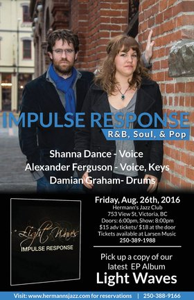 Impulse Response @ Hermann's Jazz Club Aug 26 2016 - Dec 8th @ Hermann's Jazz Club